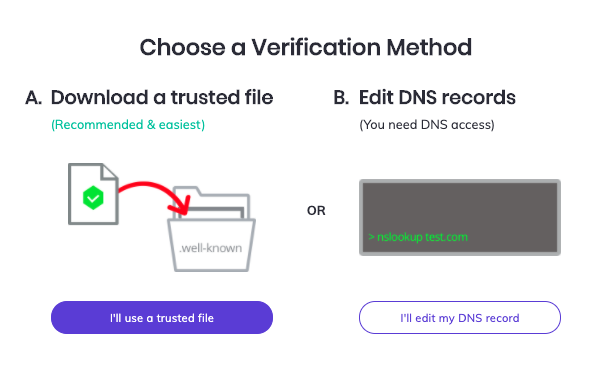 Brave Rewards Verification Method